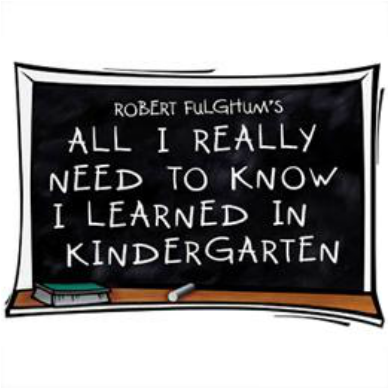 ALL I REALLY NEED TO KNOW I LEARNED IN KINDERGARTENImage