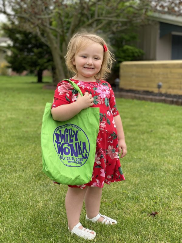 2020 Willy Wonka Show Green Canvas Bag